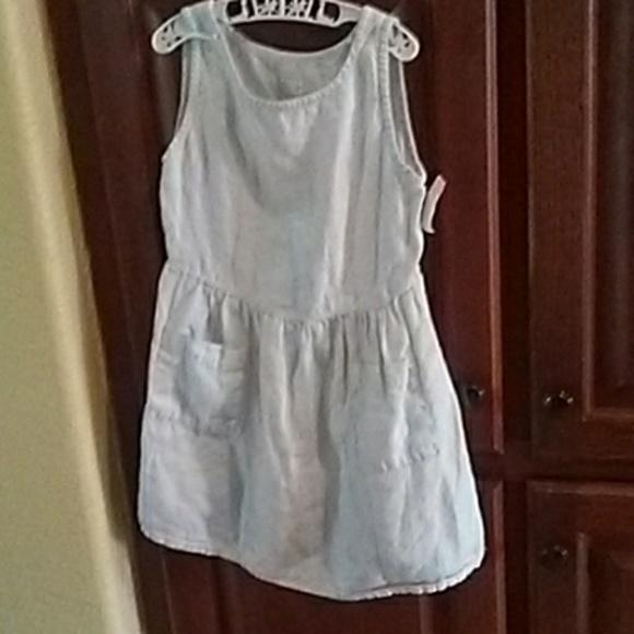 5f23a886a27c 120% Lino Dresses | Girls Light Blue Linen Dress Size 56 | Poshmark